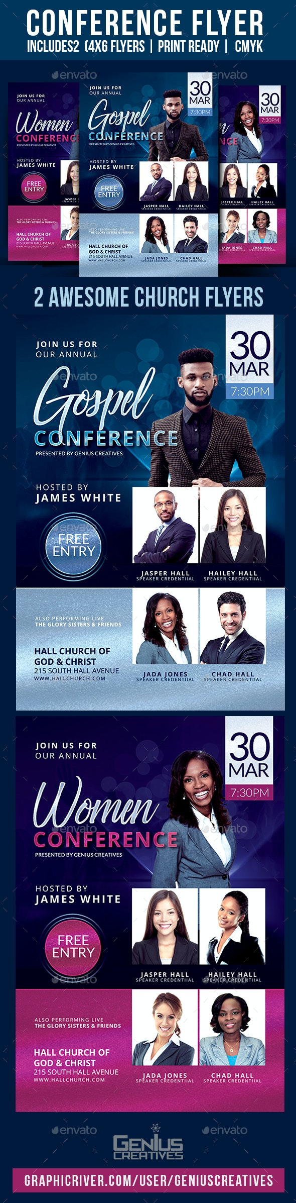 Church Conference  Flyer Template V5 - Church Flyers