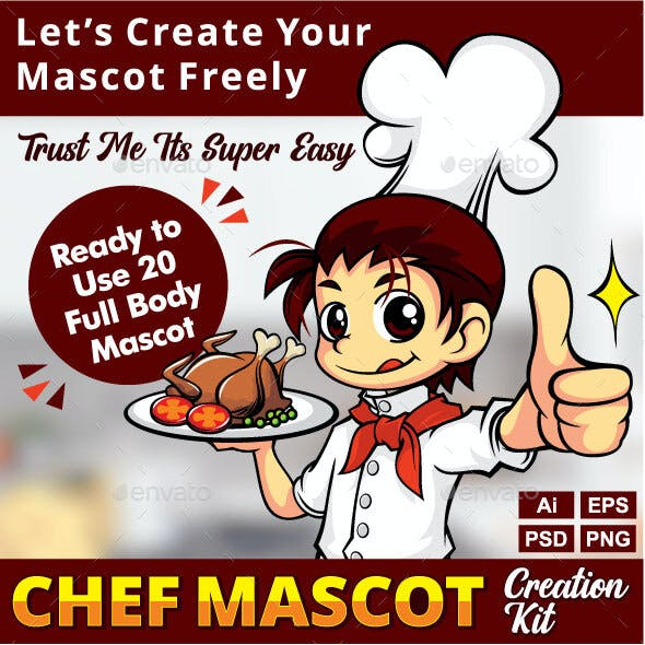 Chef Mascot Creation Kit