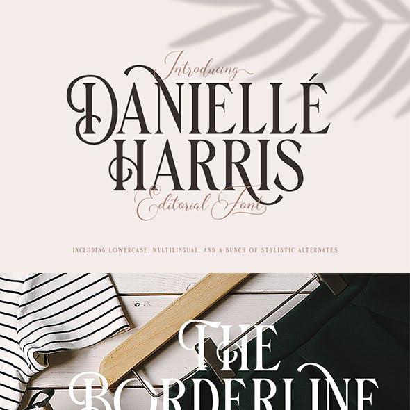 Danielle Harris - Editorial Font