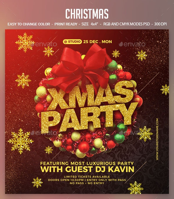 Christmas - Clubs & Parties Events Flyer