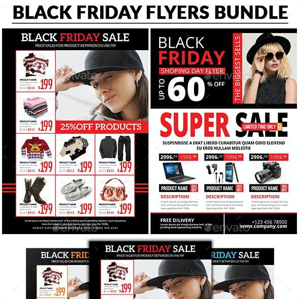 Black Friday Sale Flyer Bundle Templates