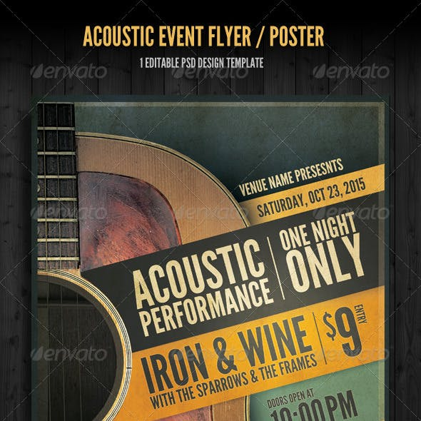 Acoustic Event Flyer/Poster Template