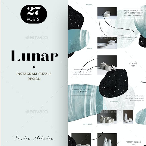Abstract Instagram Puzzle Design for Business Account and Bloggers