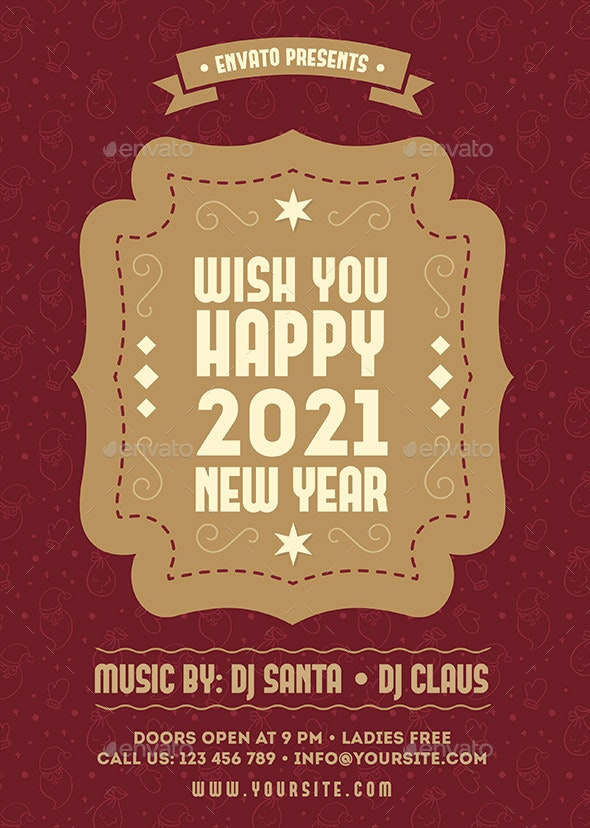 New Year Flyer - Flyers Print Templates