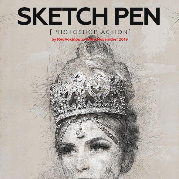 Sketch Pen Photoshop Action