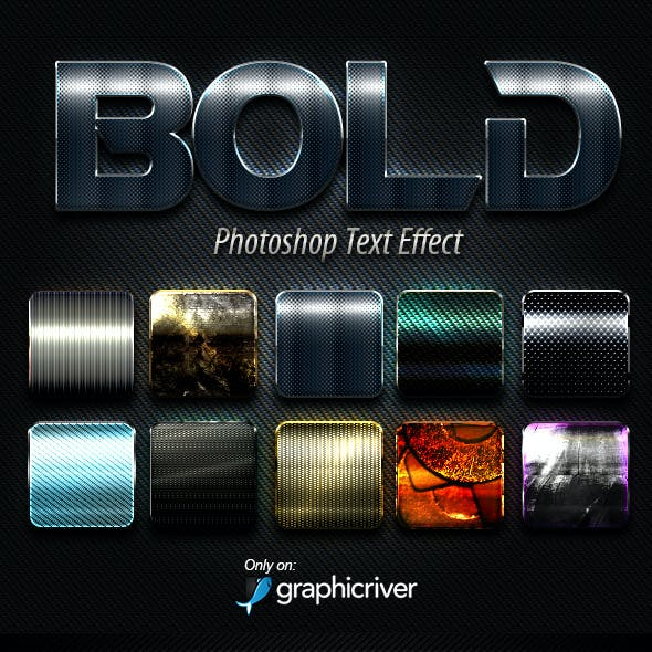 Bold Photoshop Text Effect Styles