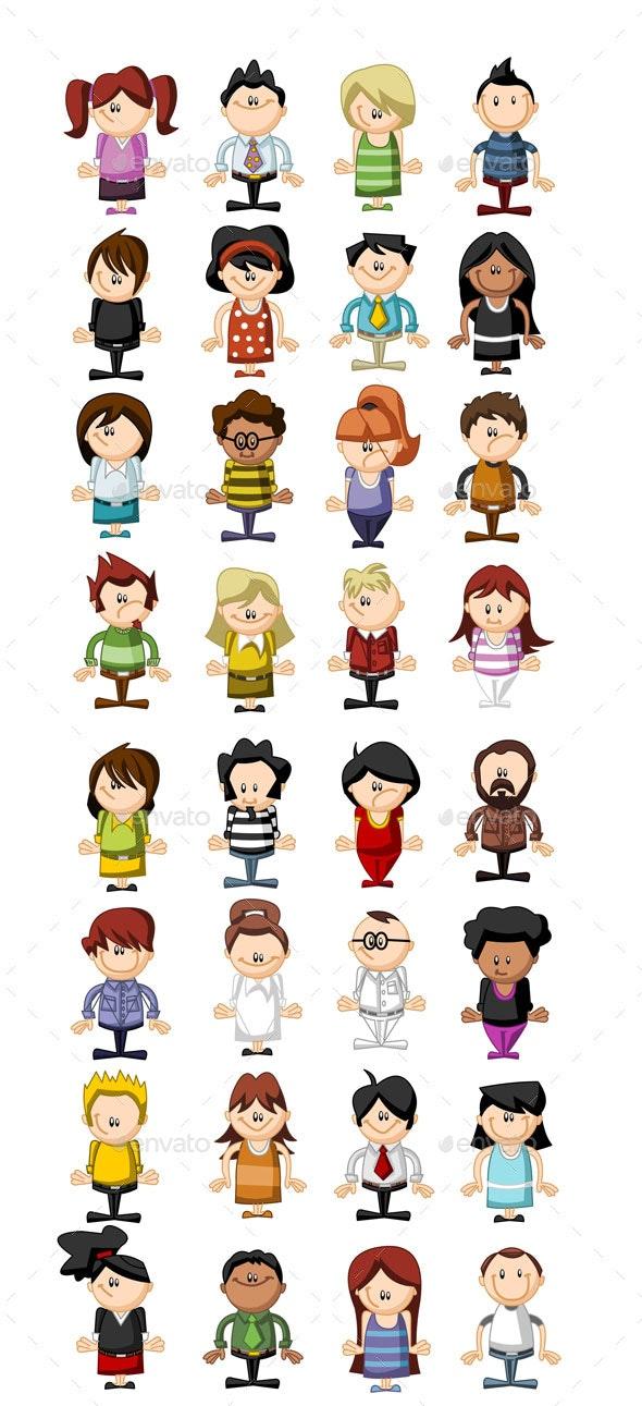 Kid Vectors - People Characters