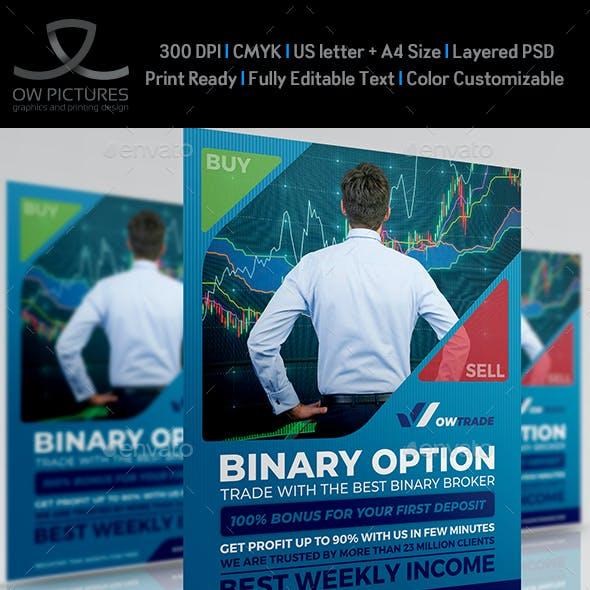 Binary Option - Stock Market Trading Flyer Template