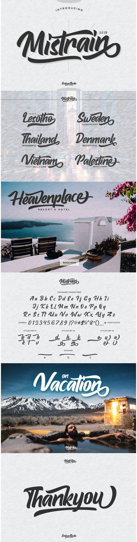 Mistrain Modern Hand Lettering - Script Fonts