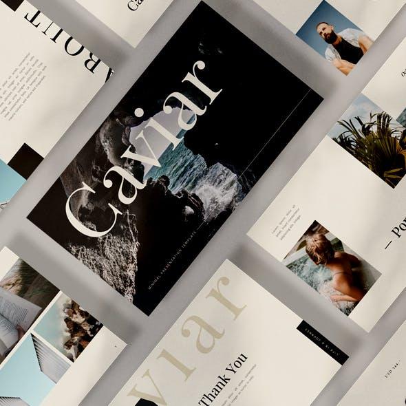 Caviar Google Slides