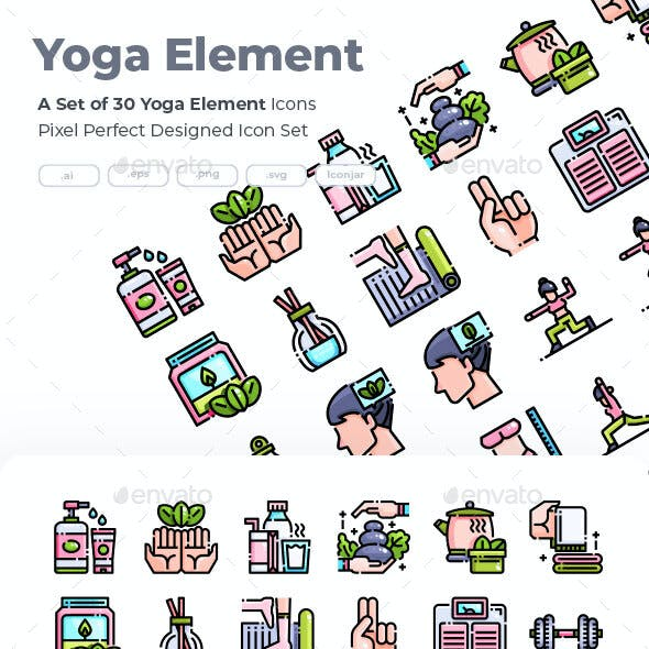 30 Yoga Element Icons