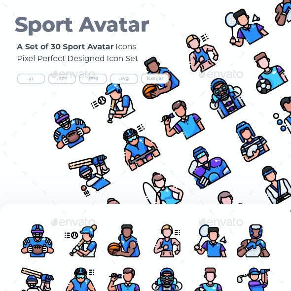 30 Sport Avatar Icons