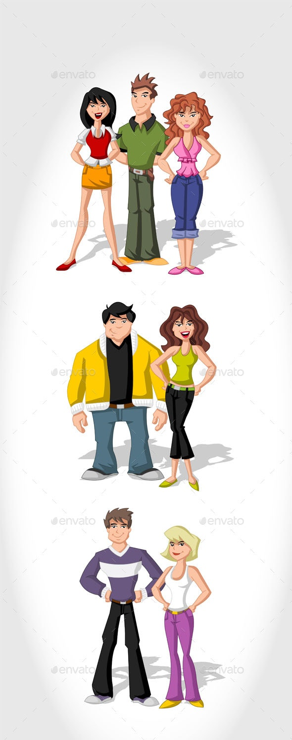 People Vectors - People Characters