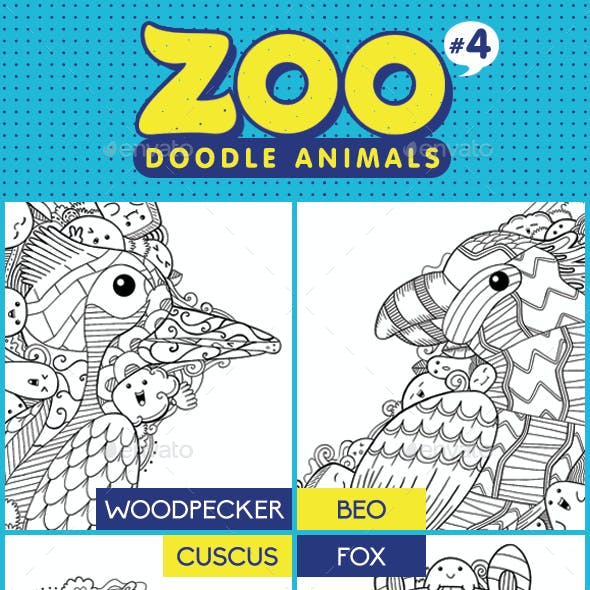 Zoo Doodle Animals #4