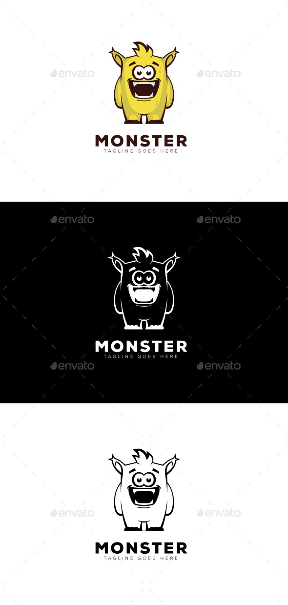 Monster Logo - Vector Abstract