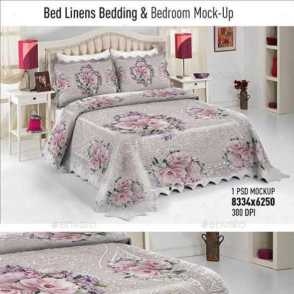 Bed Linens Bedding & Bedroom Mock-Up