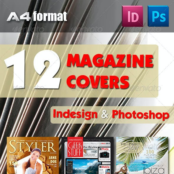 12 Magazine Covers Bundle