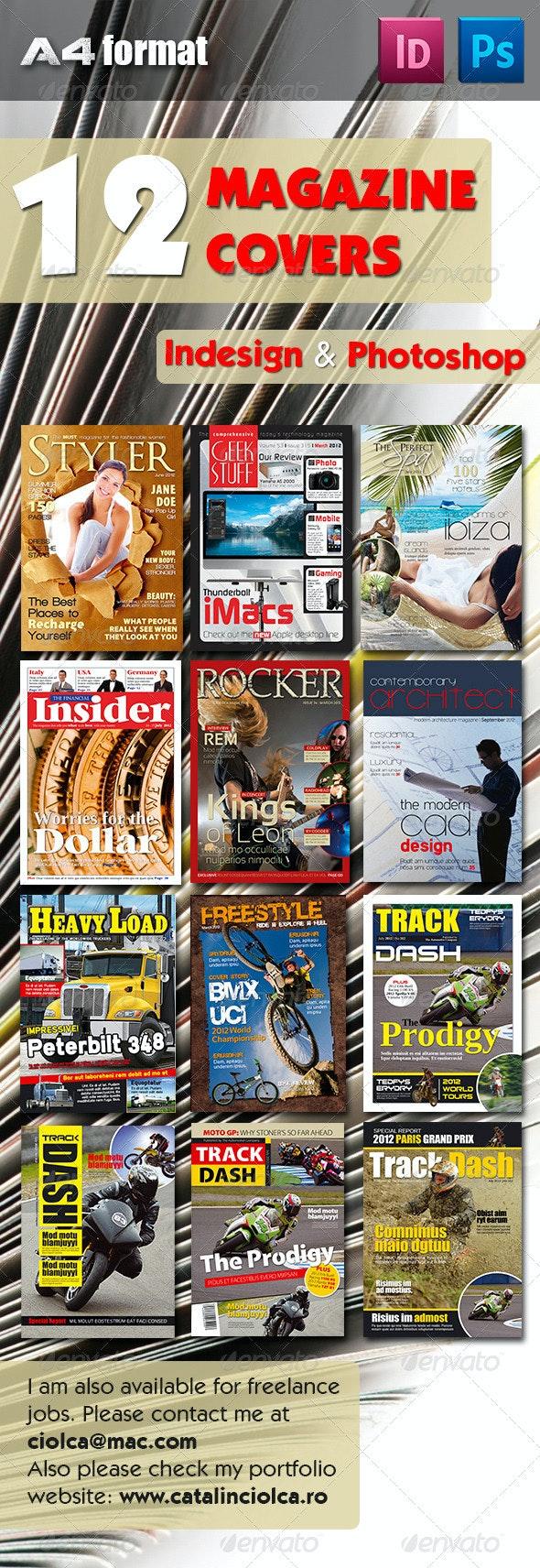 12 Magazine Covers Bundle