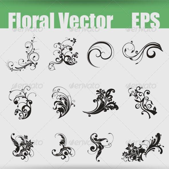 Floral Shapes EPS
