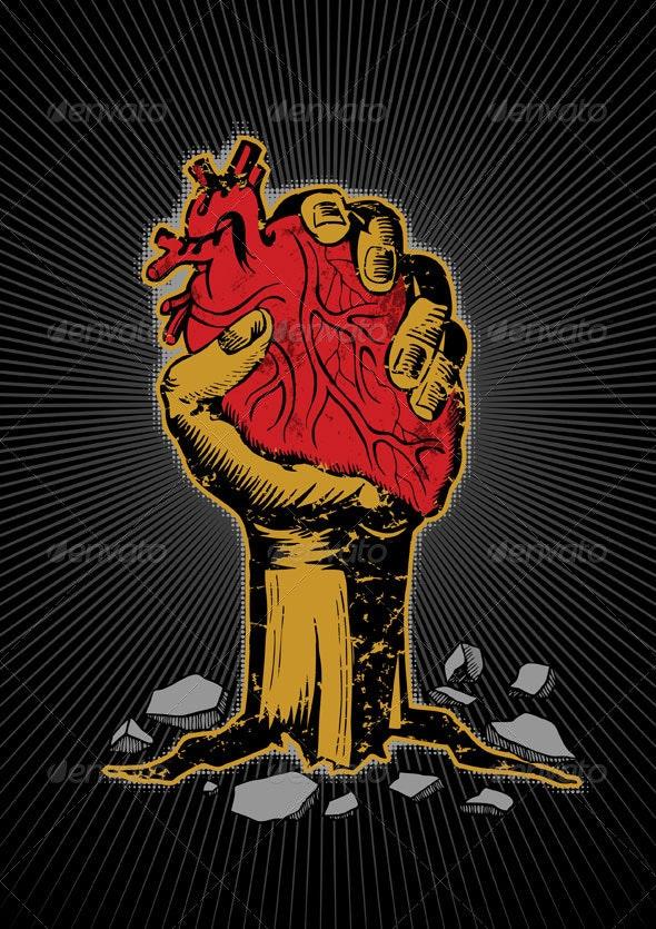 Hand holding heart - Health/Medicine Conceptual