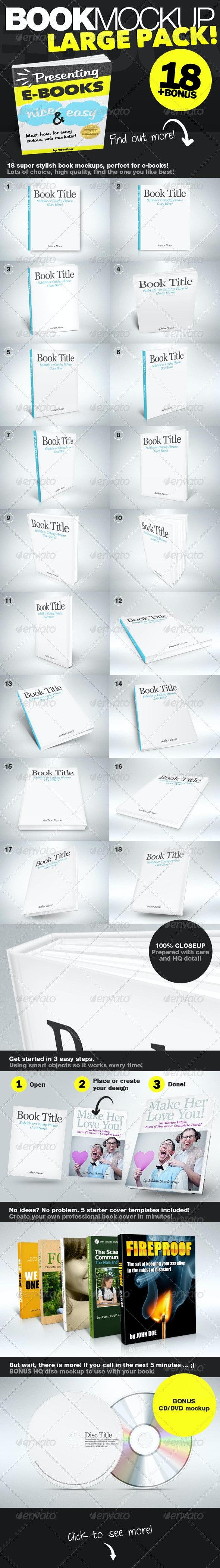 Book Mockup HQ - Books Print