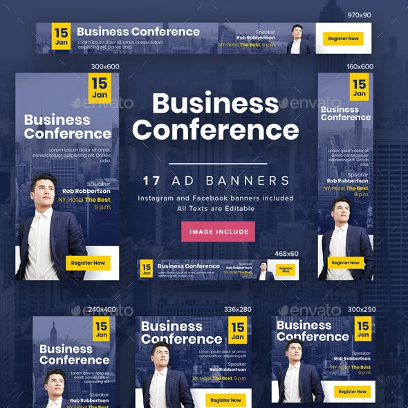 Business Conference Ad Banners
