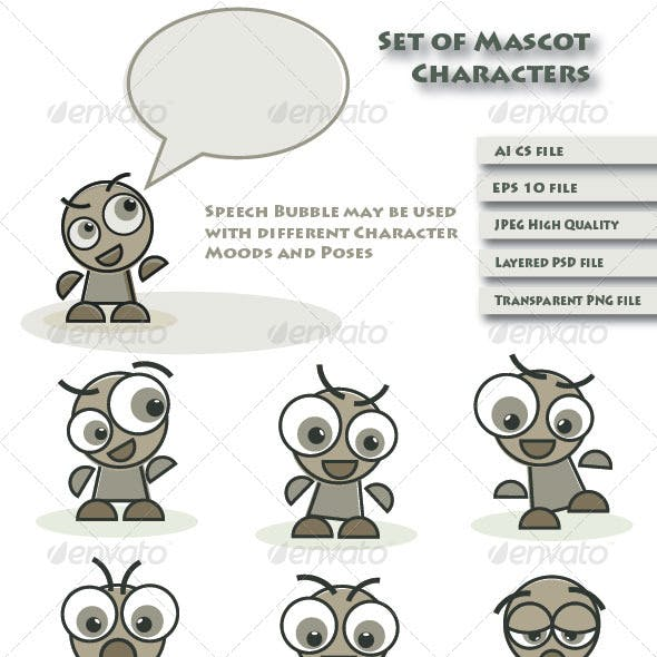 Mascot Characters and Speech Bubble