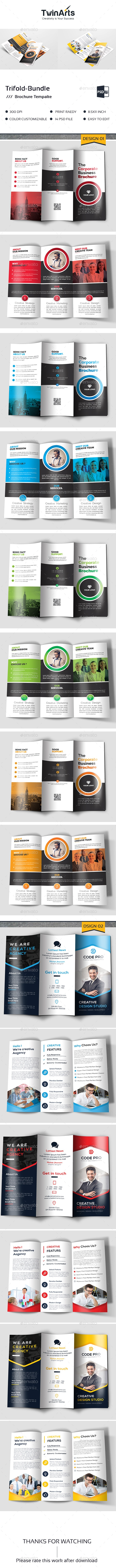 Trifold  Brochure Bundle - Brochures Print Templates