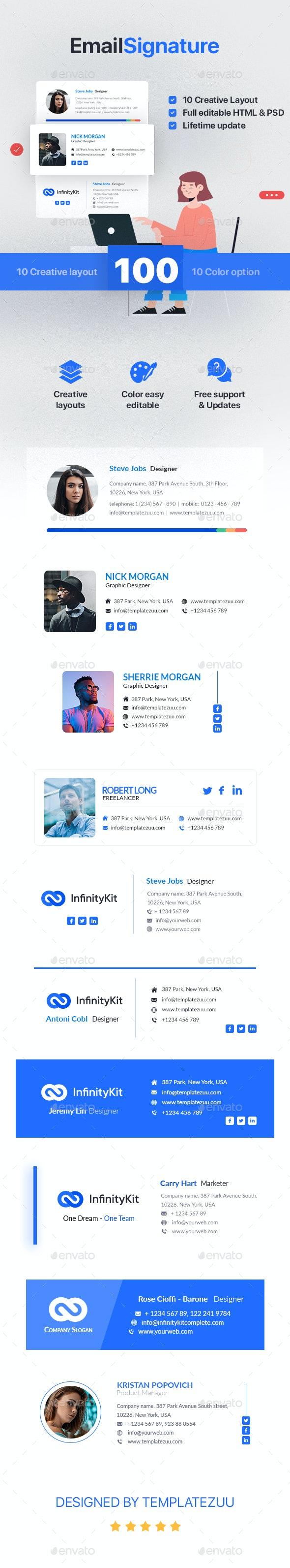 InfinityKit Email Signature - Miscellaneous Social Media