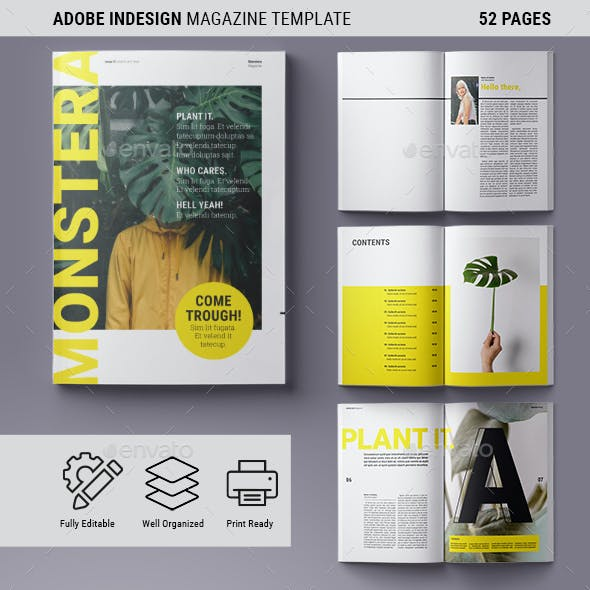Magazine Template | Monstera