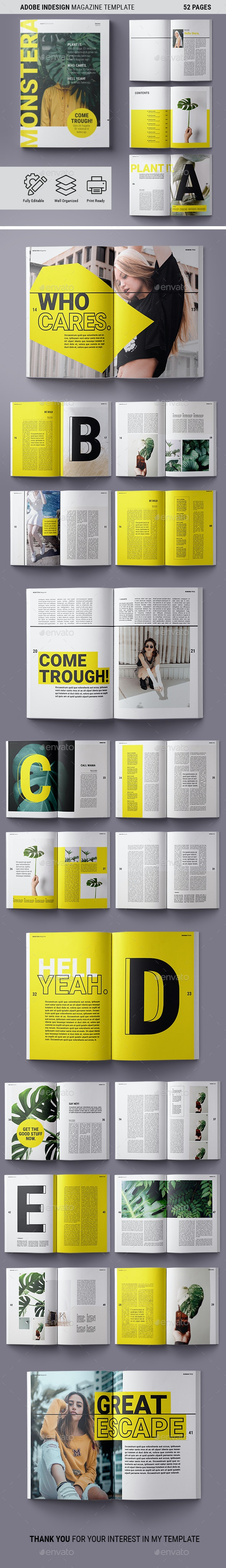 Magazine Template | Monstera - Magazines Print Templates