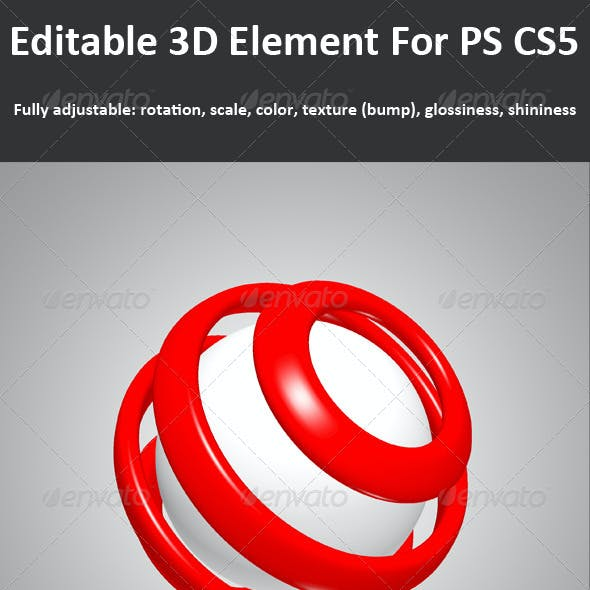 3D Element ( Layer ) For PS CS5, Full 3d Options