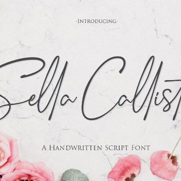 Sella Callista A Handwritten Script Font