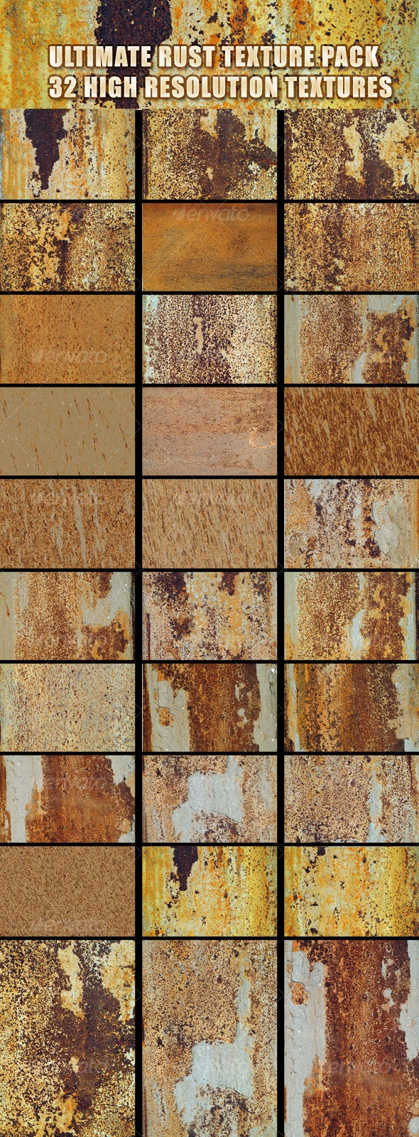 ULTIMATE RUST TEXTURE PACK  - Industrial / Grunge Textures