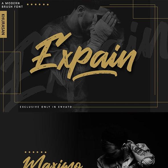 Expain Brush Font