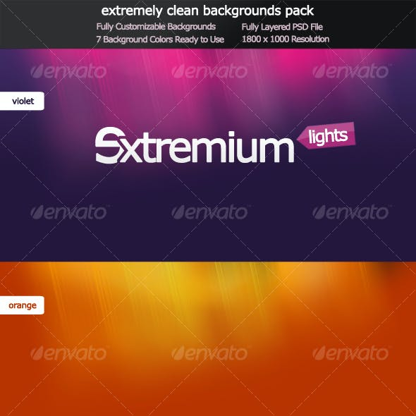 Extremium Lights - extremely clean background pack