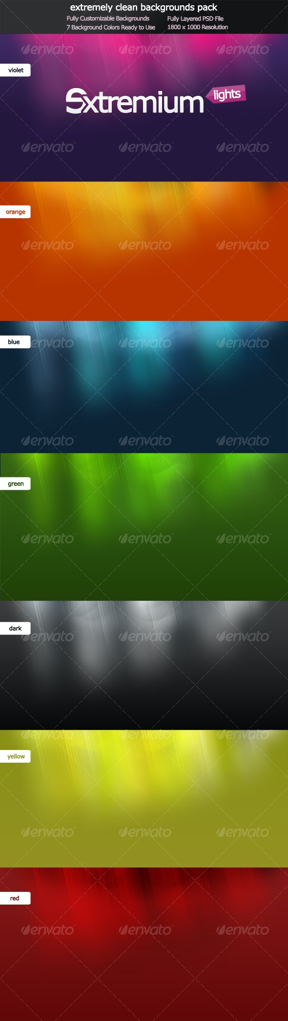 Extremium Lights - extremely clean background pack - Backgrounds Graphics