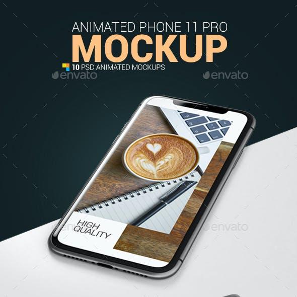 Animated Phone 11 Pro Mockup