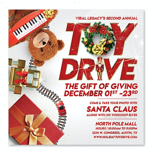 Toys for Tots / Toy Drive Flyer V07 Template