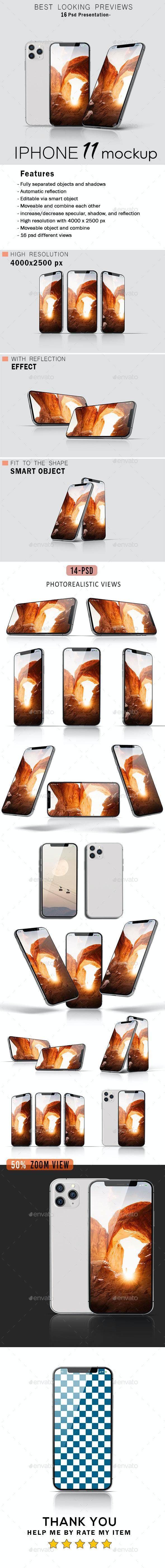 Phone 11 Pro Mockup - Mobile Displays