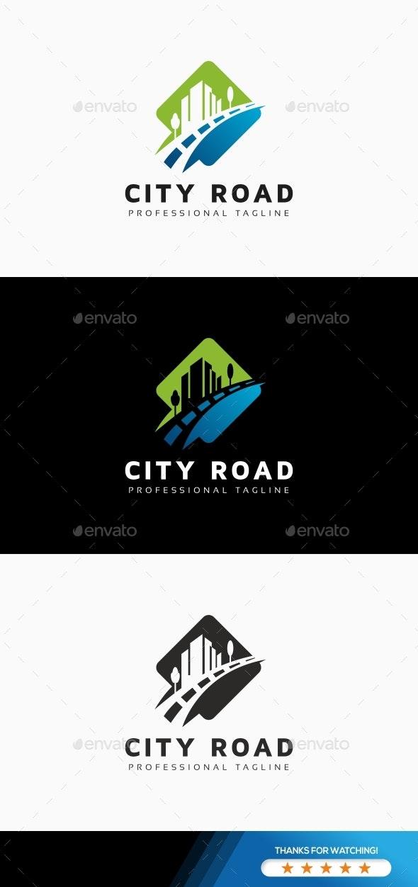 City Road Logo - Buildings Logo Templates