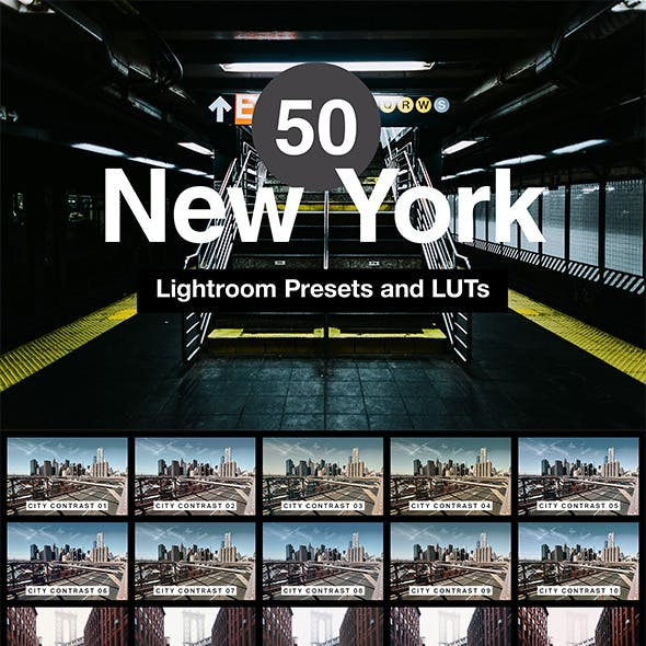 50 New York Lightroom Presets and LUTs