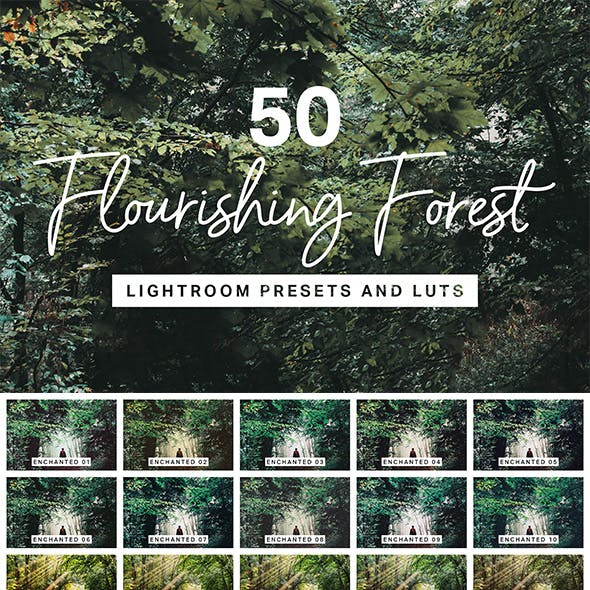 50 Flourishing Forest Lightroom Presets and LUTs