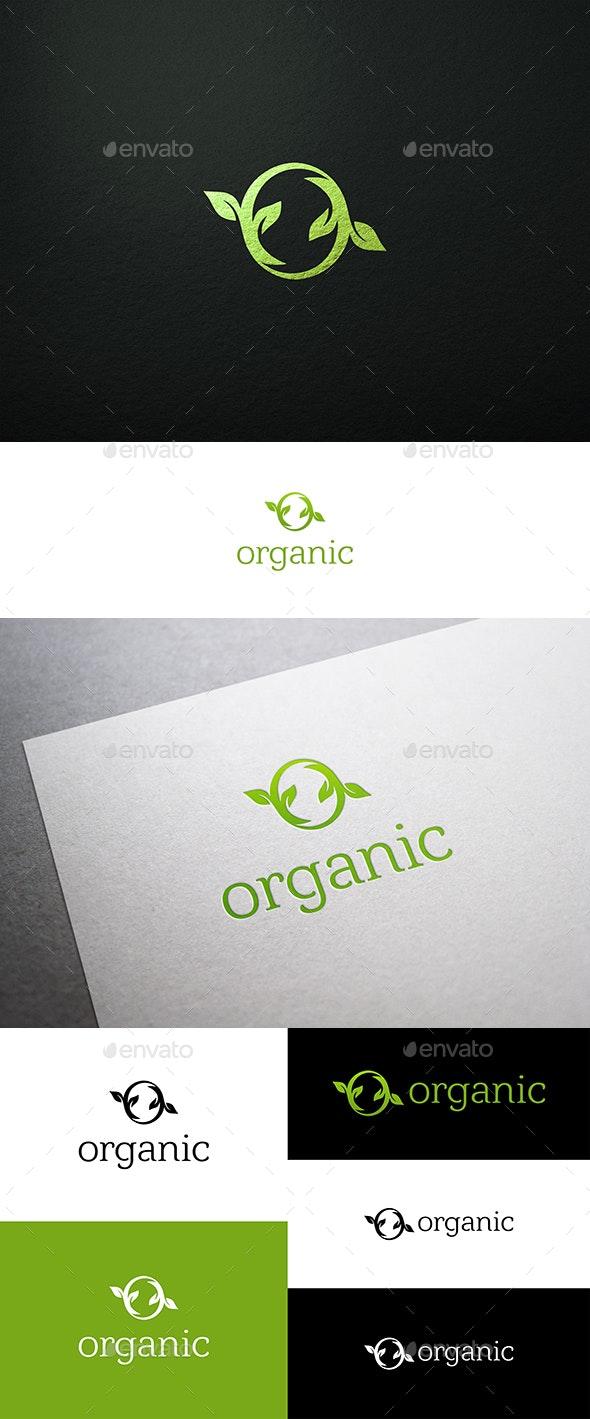 Organic Logo O Letter and Leaves - Nature Logo Templates