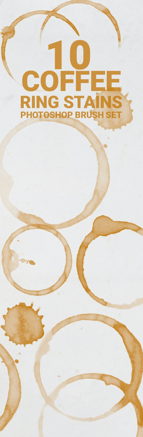 10 Coffee Ring Stains - Brushes Photoshop