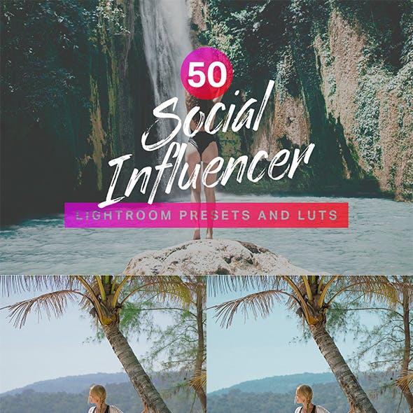 50 Social Media Influencer Lightroom Presets LUTs