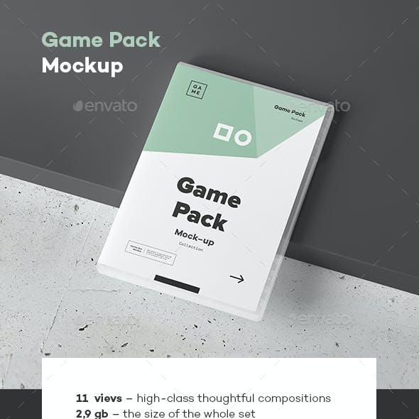 Game Disc Pack Mockup
