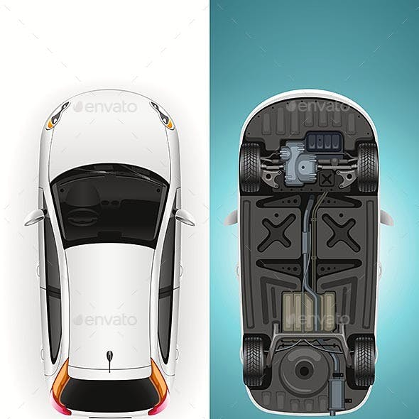 Car Template Bottom and Top