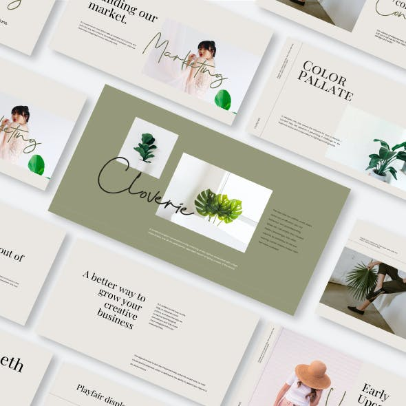 Cloverie Keynote Template