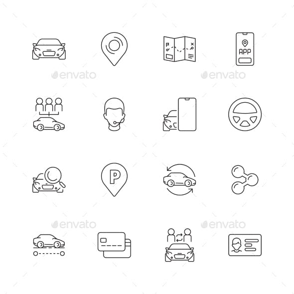 Car Share Icons